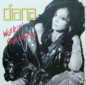 Album  Cover Diana Ross - Working Overtime on EMI Records from 1989