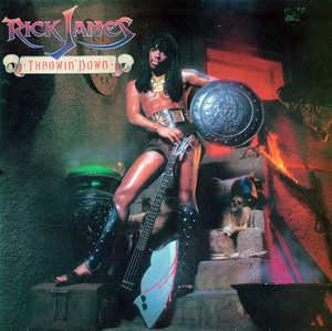 Album  Cover Rick James - Throwin' Down on GORDY Records from 1982