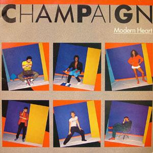 Album  Cover Champaign - Modern Heart on CBS Records from 1983