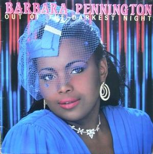 Front Cover Album Barbara Pennington - Out Of The Darkest Night