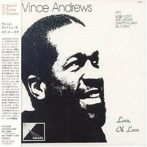 Album  Cover Vince Andrews - Love, Oh Love on SISAPA Records from 1983