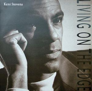 Album  Cover Keni Stevens - Living On The Edge on DEBUT / ELITE Records from 1990