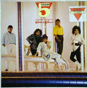 Album  Cover Five Star - Silk & Steel on RCA Records from 1986