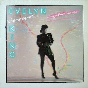 Album  Cover Evelyn 'champagne' King - A Long Time Coming on RCA Records from 1985