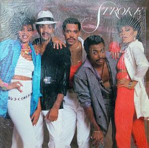 Album  Cover Stroke - Stroke on OMNI Records from 1985