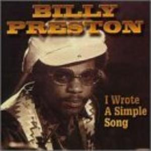 Album  Cover Billy Preston - I Wrote A Simple Song on A&M Records from 1972