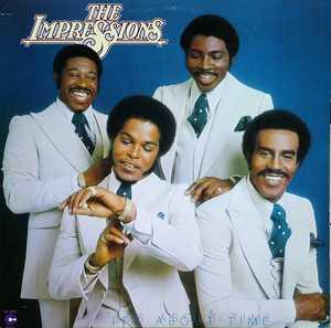 Front Cover Album The Impressions - It's About Time