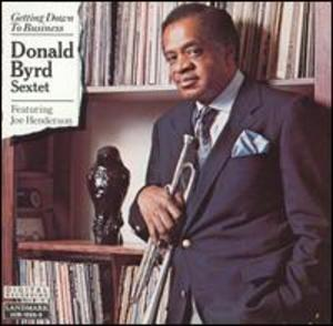 Album  Cover Donald Byrd - Getting Down To Business on LANDMARK Records from 1989