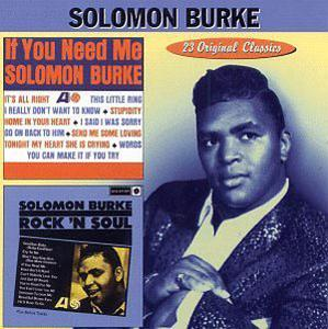 Album  Cover Solomon Burke - If You Need Me / Rock 'n' Soul on COLLECTABLES Records from 1998