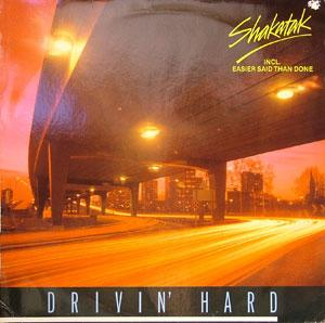 Album  Cover Shakatak - Drivin' Hard on EPIC Records from 1981