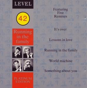 Front Cover Album Level 42 - Running In The Family (Platinum Edition)