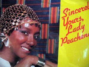 Album  Cover Lady Peachena - Sincerly Yours on PLATINUM PEACHTREE Records from 1985
