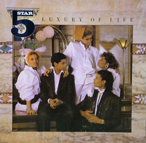 Album  Cover Five Star - Luxury Of Life on RCA Records from 1985