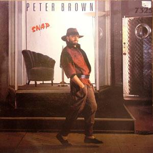 Album  Cover Peter Brown - Snap on CBS Records from 1984