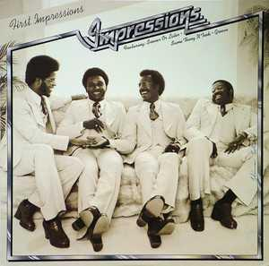 Album  Cover The Impressions - First Impressions on CURTOM Records from 1975