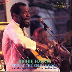Front Cover Album Richie Havens - Live at the Cellar Door