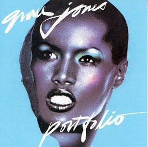 Album  Cover Grace Jones - Portfolio on ISLAND Records from 1977