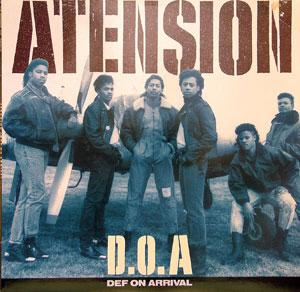 Album  Cover Atension - D.o.a. Def On Arrival on ISLAND Records from 1989