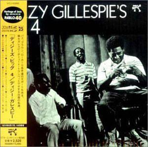 Album  Cover Dizzy Gillespie - Dizzy's Big 4 on PABLO / OJC Records from 1974
