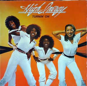 Album  Cover High Inergy - Turnin' On on GORDY Records from 1977