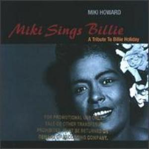 Album  Cover Miki Howard - Miki Sings Billie on GIANT Records from 1993