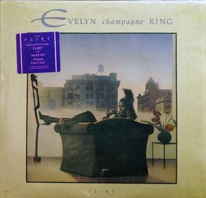 Album  Cover Evelyn 'champagne' King - Flirt on EMI Records from 1988