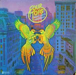 Album  Cover The Four Tops - Night Lights Harmony on ABC Records from 1975