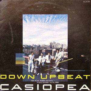 Album  Cover Casiopea - Down Upbeat on SONET Records from 1984