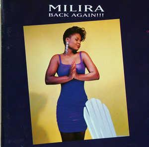 Album  Cover Milira - Back Again on MOTOWN Records from 1992