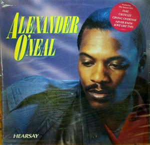 Album  Cover Alexander O' Neal - Hearsay on TABU Records from 1987