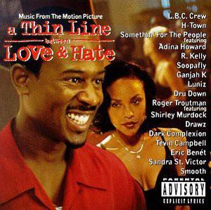 Album  Cover Various Artists - A Thin Line Between Love & Hate (soundtrack) on WARNER BROS. Records from 1995