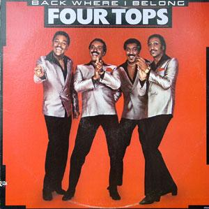 Front Cover Album The Four Tops - Back Where I Belong