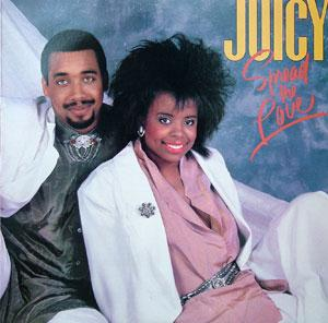 Album  Cover Juicy - Spread The Love on CBS Records from 1987