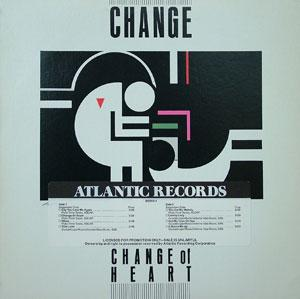 Album  Cover Change - Change Of Heart on ATALANTIC Records from 1984