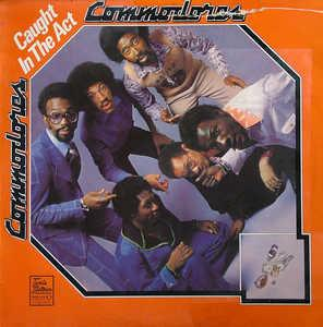 Front Cover Album Commodores - Caught In The Act