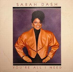 Album  Cover Sarah Dash - You're All I Need on EMI Records from 1988