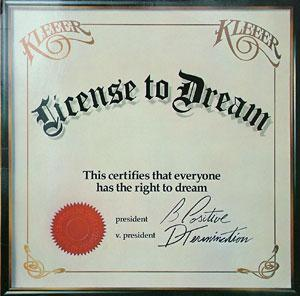 Album  Cover Kleeer - License To Dream on ATLANTIC Records from 1981