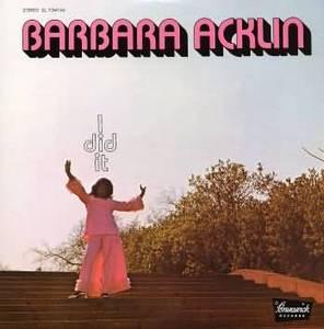 Album  Cover Barbara Acklin - I Did It on BRUNSWICK Records from 1971