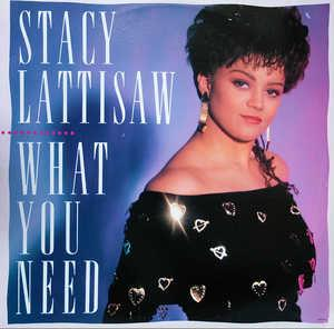 Album  Cover Stacy Lattisaw - What You Need on MOTOWN Records from 1989