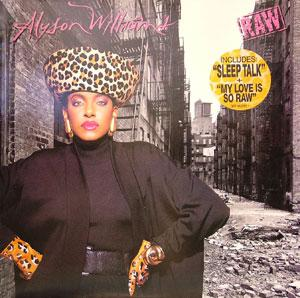 Album  Cover Alyson Williams - Raw on EPIC Records from 1989