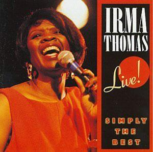 Album  Cover Irma Thomas - 'live: Simply The Best' on ROUNDER Records from 1990
