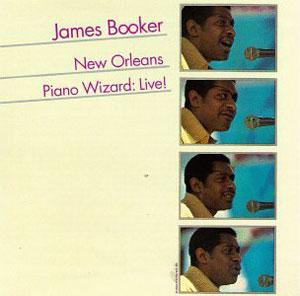 Album  Cover James Booker - New Orleans Piano Wizard Live! on ROUNDER Records from 1981