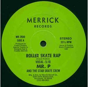 Front Cover Single Mr. P And The Star Skate Crew - Roller Skate Rap
