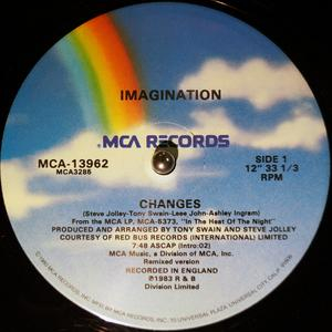 Front Cover Single Imagination - Changes