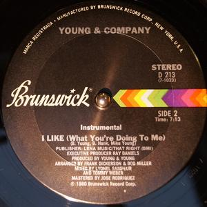 Front Cover Single Young And Company - I Like (What You're Doing To Me)
