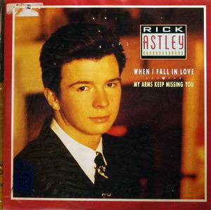 Front Cover Single Rick Astley - When I Fall In Love