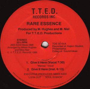 Front Cover Single Rare Essence - Give It Here