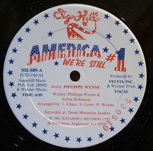 Front Cover Single Philippe Wynne - America We're Still #1