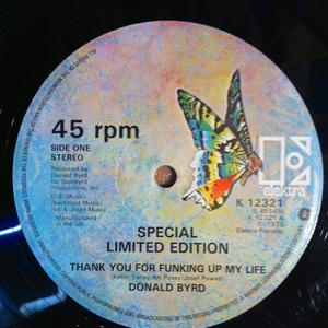 Front Cover Single Donald Byrd - Thank You For Funkin' Up My Live