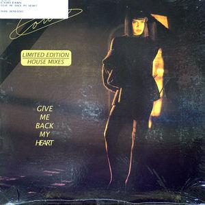 Front Cover Single Corina - Give Me Back My Heart
